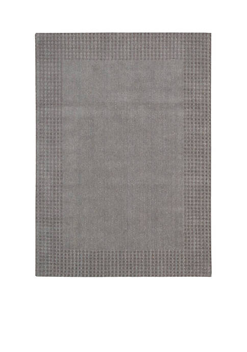"Nourison Cottage Grove Steel Area Rug 106"" x"
