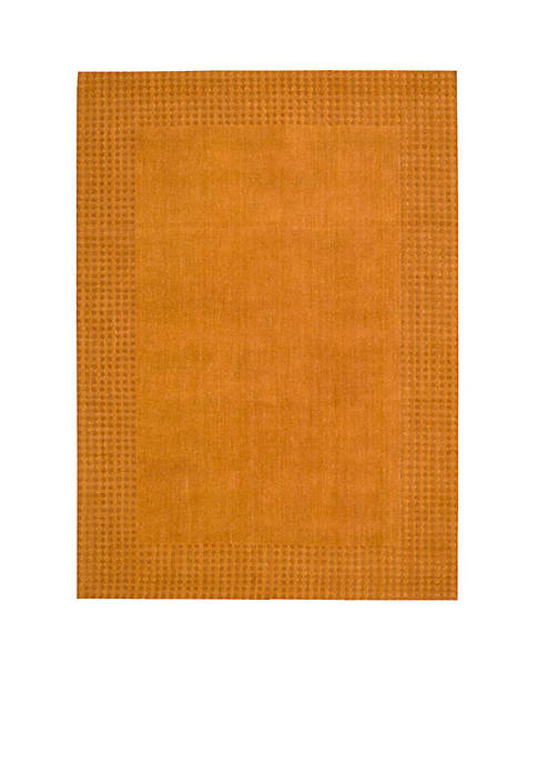 "Cottage Grove Terracotta Area Rug 75"" x 53"""