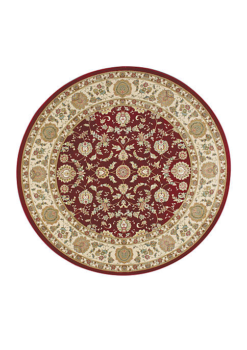 "Nourison Antiquities Garnet Area Rug 53"" Round"