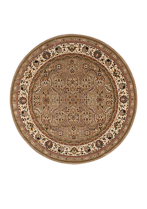 "Antiquities Cream Area Rug 53"" Round"