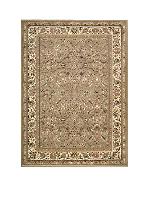 "Antiquities Cream Area Rug 132"" x 910"""