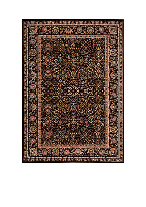 "Antiquities Espresso Area Rug 74"" x 53"""