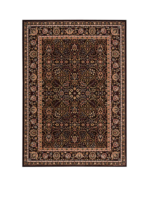 "Antiquities Espresso Area Rug 1010"" x 710"""