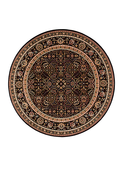 "Nourison Antiquities Espresso Area Rug 710"" Round"