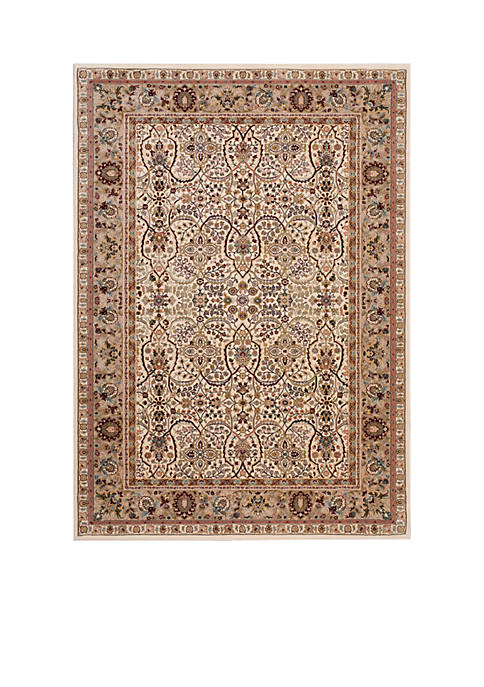 "Antiquities Ivory Area Rug 74"" x 53"""