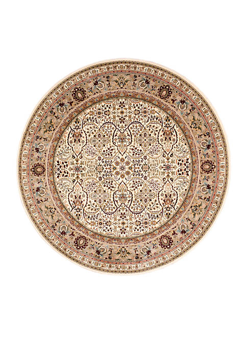"Nourison Antiquities Ivory Area Rug 710"" Round"