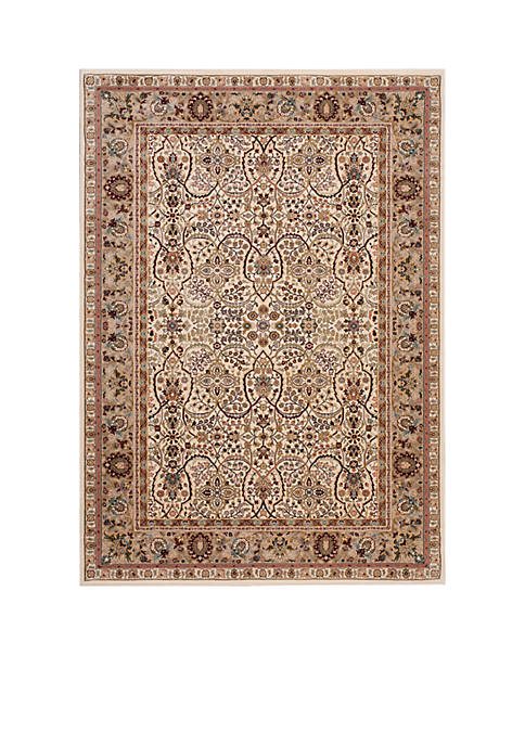 "Antiquities Ivory Area Rug 132"" x 910"""
