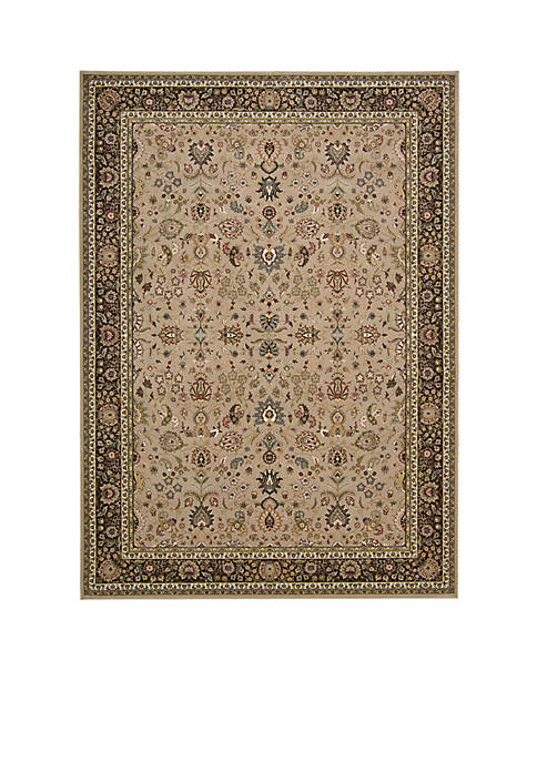 "Antiquities Cream Area Rug 74"" x 53"""