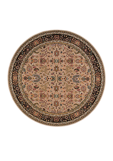 "Nourison Antiquities Cream Area Rug 53"" Round"