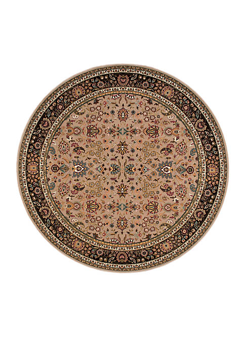 "Antiquities Cream Area Rug 710"" Round"