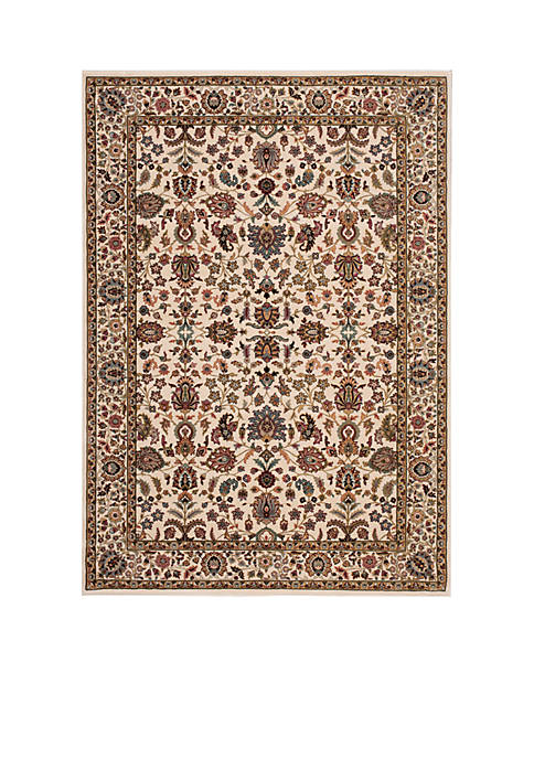 "Nourison Antiquities Ivory Area Rug 74"" x 53"""
