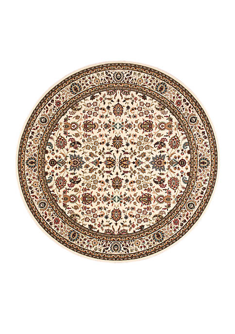 "Antiquities Ivory Area Rug 53"" Round"