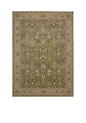"Antiquities Sage Area Rug 76"" x 22"""