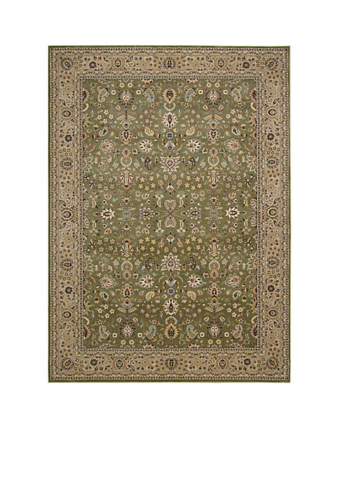 "Nourison Antiquities Sage Area Rug 74"" x 53"""
