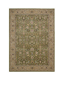 "Antiquities Sage Area Rug 1010"" x 710"""