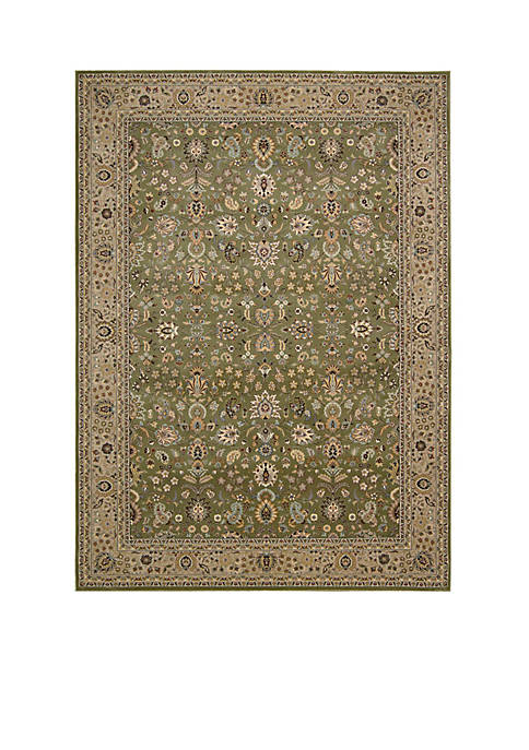 "Nourison Antiquities Sage Area Rug 1010"" x 710"""