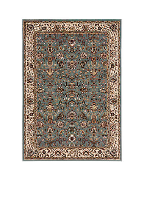 "Antiquities Slate Blue Area Rug 74"" x 53"""