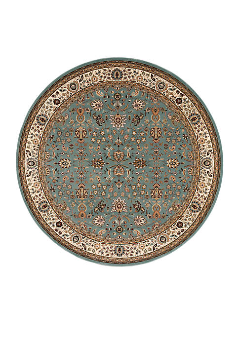 "Antiquities Slate Blue Area Rug 53"" Round"