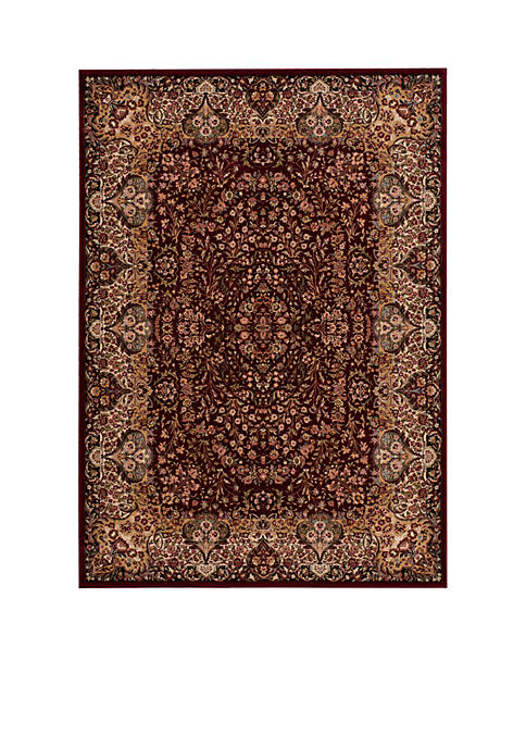 "Nourison Antiquities Burgundy Area Rug 76"" x 22"""