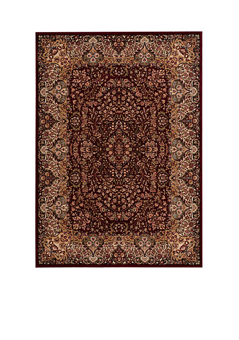 "Antiquities Burgundy Area Rug 1010"" x 710"""