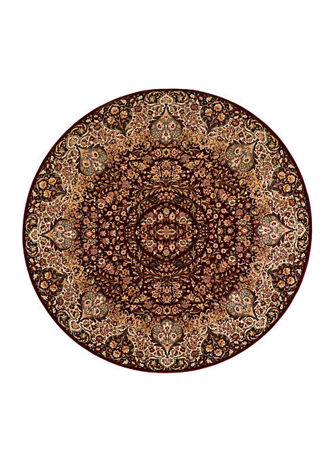 "Antiquities Burgundy Area Rug 710"" Round"
