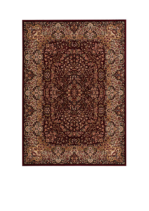 "Antiquities Burgundy Area Rug 132"" x 910"""