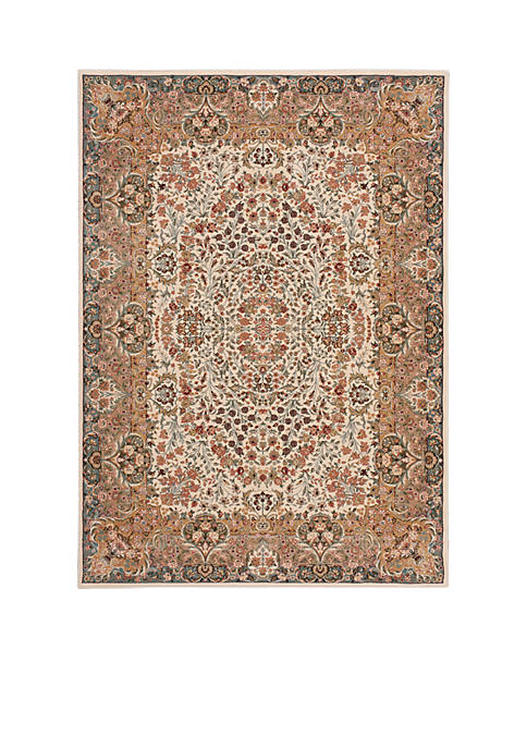 "Nourison Antiquities Ivory Area Rug 59"" x 39"""