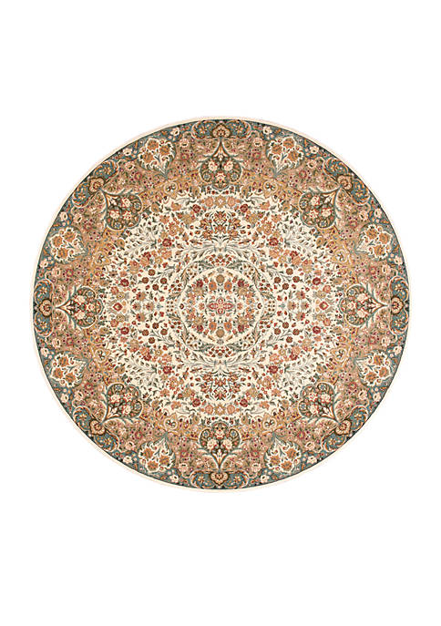 "Nourison Antiquities Ivory Area Rug 53"" Round"