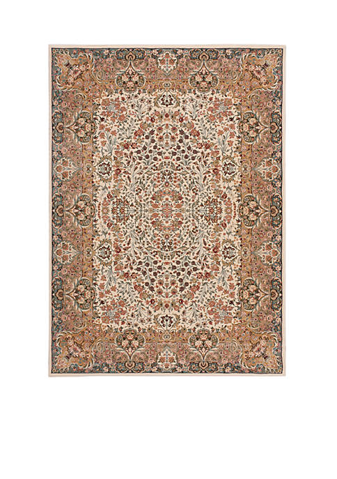 "Nourison Antiquities Ivory Area Rug 1010"" x 710"""