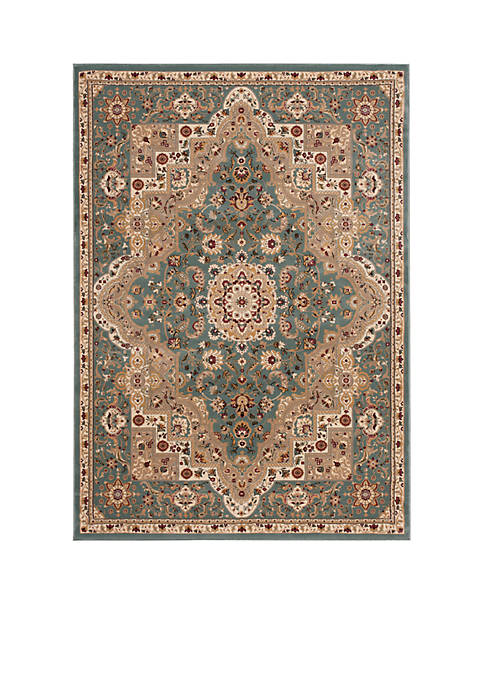 "Antiquities Slate Blue Area Rug 76"" x 22"""