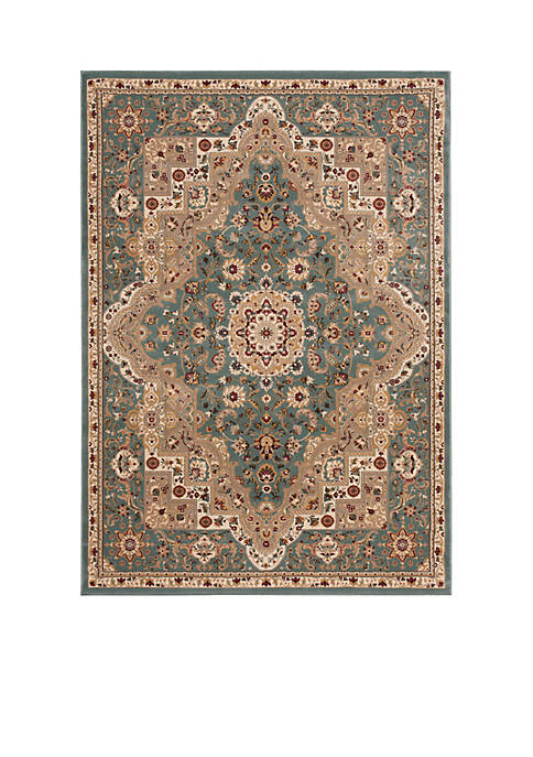 "Nourison Antiquities Slate Blue Area Rug 74"" x"