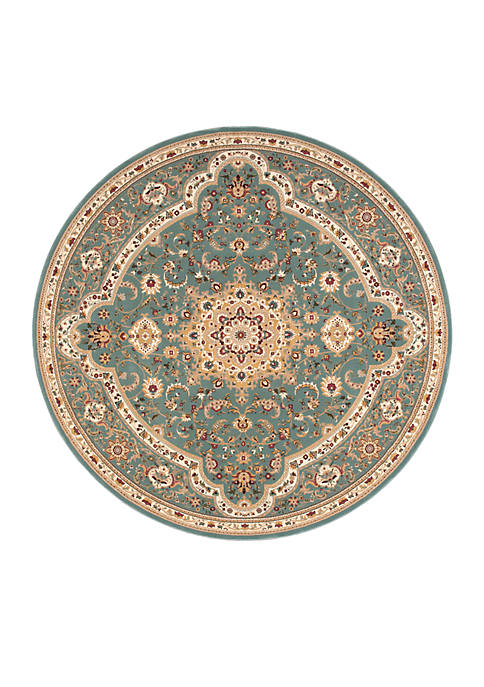 "Nourison Antiquities Slate Blue Area Rug 53"" Round"