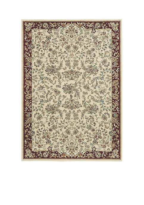 "Nourison Antiquities Ivory Area Rug 53"" x 74"""