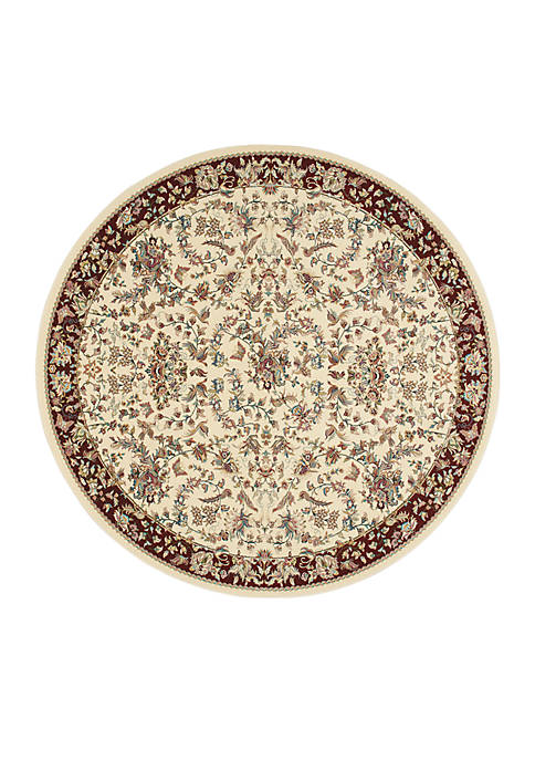 "Antiquities Ivory Area Rug 710"" Round"