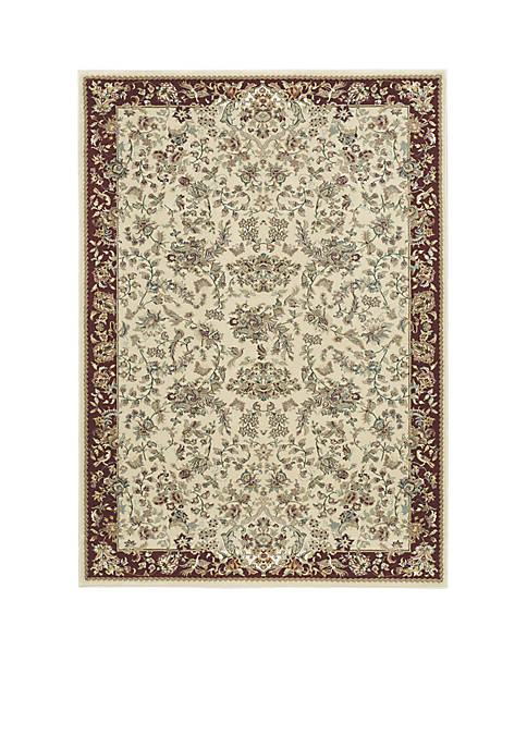 "Antiquities Ivory Area Rug 910"" x 132"""