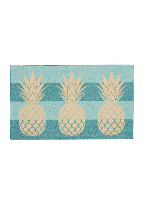 Pineapples Printed Accent Rug - 18 in x 30 in
