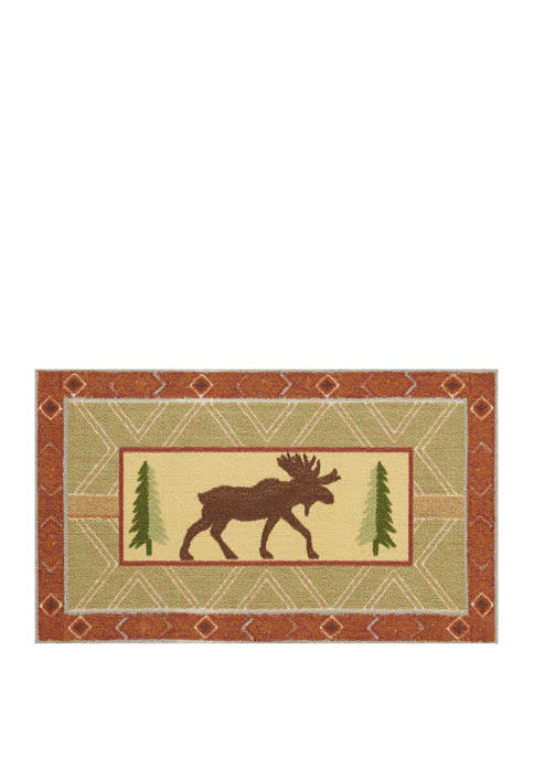 18 in x 30 in Moose Accent Rug