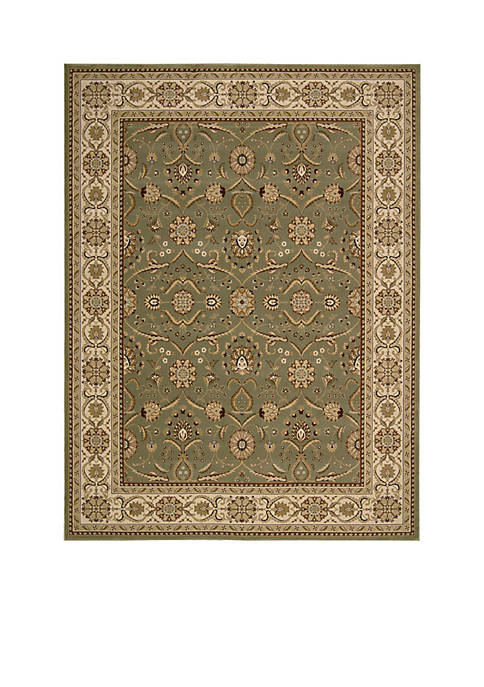 Nourison Persian Crown Green Area Rug