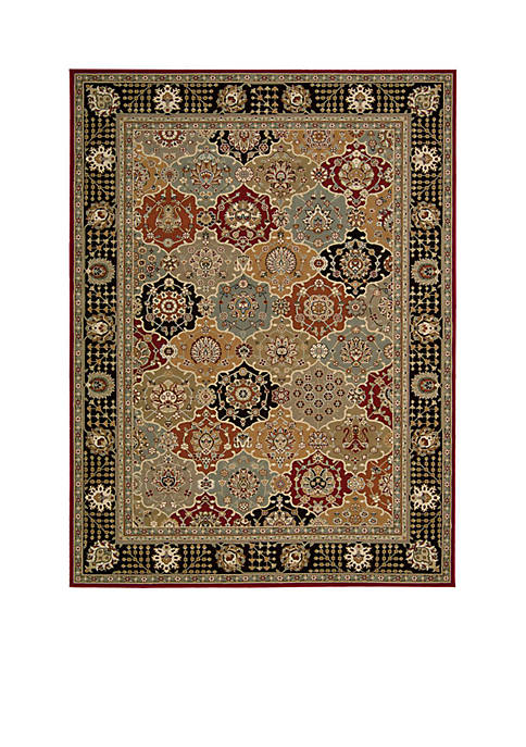"Nourison Persian Crown Black Area Rug 211"" x"