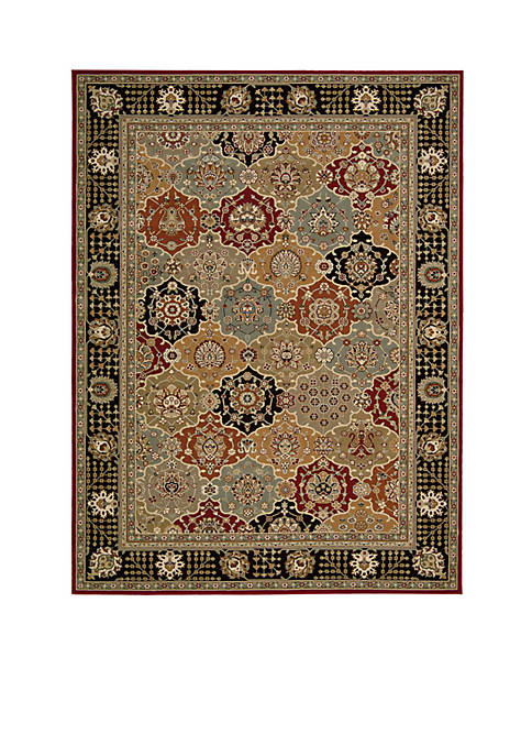 "Persian Crown Black Area Rug 106"" x 7¿10"""