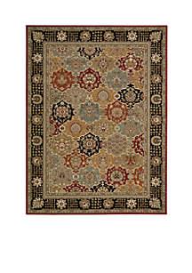 Persian Crown Black Area Rug 10'6\