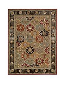 Persian Crown Black Area Rug 12'9\