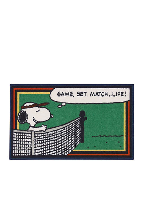 Nourison Peanuts™ Game, Set, Match Rug
