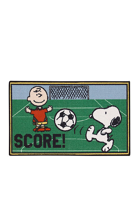 Peanuts Goal Rug