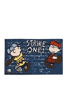 Peanuts™ Strike One Rug Red