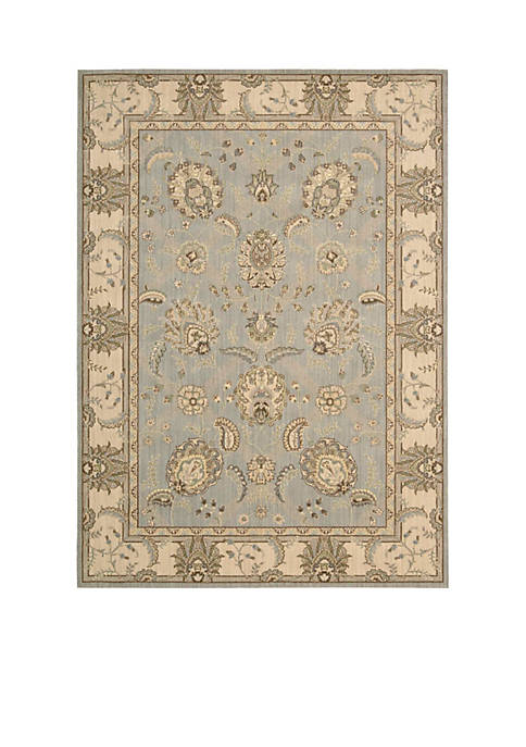 Nourison Persian Empire Aqua Area Rug 8 x