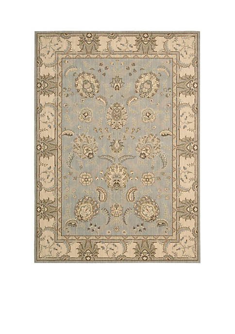 "Persian Empire Aqua Area Rug 56"" x 36"""