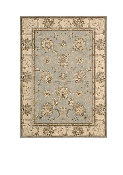 "Persian Empire Aqua Area Rug 75"" x 53"""