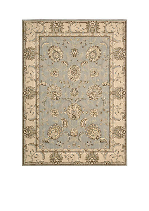 "Persian Empire Aqua Area Rug 1010"" x 79"""