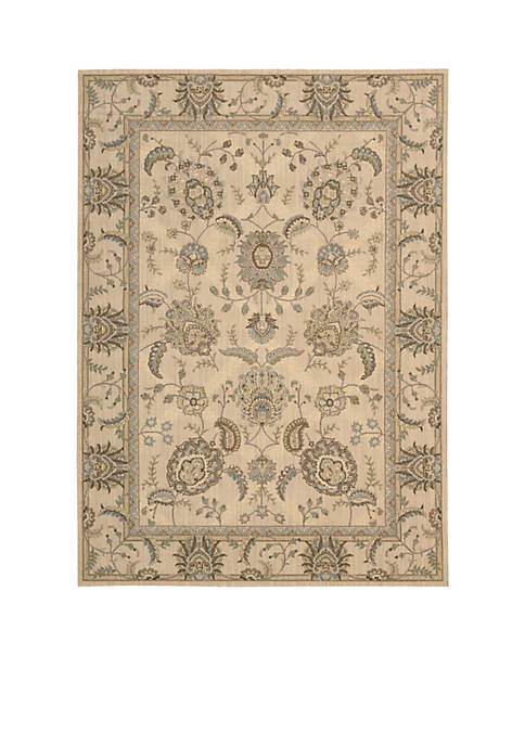 "Persian Empire Ivory Area Rug 75"" x 53"""